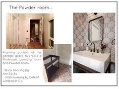 Powder room: from concept to completion  @redesignhomellc.com