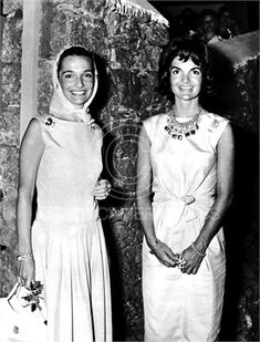 Lee Radziwill and Jacqueline Kennedy