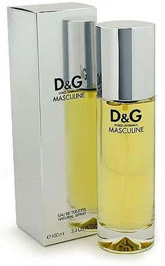 D & G Masculine cologne - a fragrance for men 1999 - Top notes are petitgrain and bergamot; middle notes are orange blossom, clary sage, mint, basil, jasmine and caraway; base notes are teak wood, fig leaf, musk, vetiver and cedar.