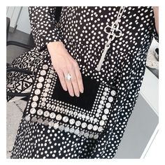 """Pochette """"Pièces"""" noire, Collection Daim Dresses With Sleeves, Long Sleeve, Collection, Fashion, Black Suede, Dress Black, Ethnic Looks, Clutch Bags, Moda"""