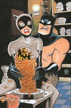 Batman And Catwoman by Jacob Chabot Batman Fan Art, Batman Artwork, Batman Wallpaper, Batman And Catwoman, Im Batman, Batgirl, Gotham Batman, Batman Robin, Comic Books Art