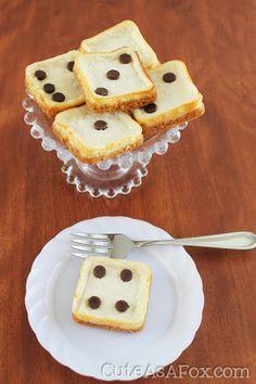 Cute As a Fox: Mini Cheesecake Dice making these for BUNCO!!!