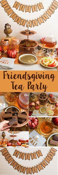friendsgiving tea party