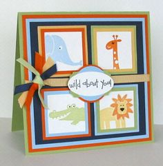 Wild Thing....You Make My Heart Sing! using Stampin Up Wild about You retired stamp set.