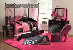 Shop for a Belle Noir Dark Merlot  6 Pc Zebra Canopy Daybed Bedroom at Rooms To Go Kids. Find  that will look great in your home and complement the rest of your furniture. #iSofa #roomstogo