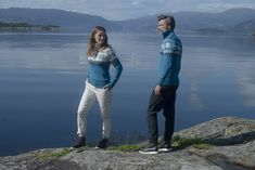 Dale of Norway Myking Sweater, Mens - Turquoise/Dust Blue/Off White, Sweater Shop, Men Sweater, Sweaters For Women, Merino Wool Sweater, Wool Sweaters, Summer Story, Norway, Off White, Turquoise