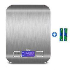 Firlar 5 kg / 11lb postal numérique et de l'Alimentation Échelle en acier inoxydable Écran LCD rétroéclairé balance de cuisine électronique…