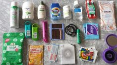"""Emergency Girl Kit//perfect for school, outings, or that moment when you say....""""I wish I had..."""""""