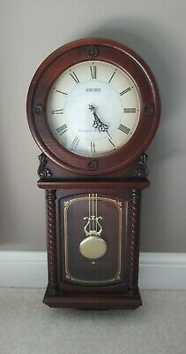 Seiko Quartz Oak Westminster Whittington Pendulum Wall Clock Working In 2020 Pendulum Wall Clock Wall Clock Clock