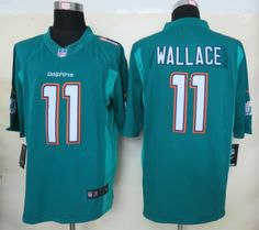 Nike Miami Dolphins 11 Mike Wallace 2013 Green Limited New Logo Jersey Air  Jordan 635a047f9