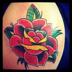Rose tattoo @Oksana Weber. Tattoos by Oksana weber