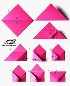 Envelope - origami ideas for boyfriend diy Love letter discovered by Sara on We Heart It Origami Ball, Origami Paper, Diy Paper, Paper Crafting, Origami Letter, Origami Swan, Origami Gifts, Origami Butterfly, Envelope Origami