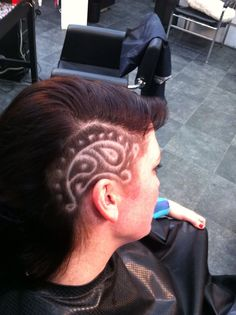 Hair tattoo art this is awesome!
