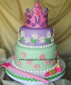 Peggy Does Cake.: Meg's princess cake for her birthday tea party. (Click photos to enlarge.)