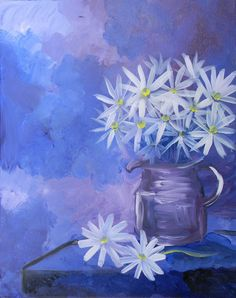 Paint Nite painting: Carriage House  #paintnite #flowers #GirlsNightOut