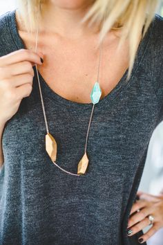 DIY: clay geometric necklace
