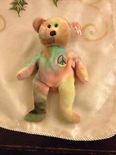 Ty Beanie Babies Peace Bear Peace Beanie Baby, Beanie Babies, Ty Beanie, Baby Items, Teddy Bear, Animals, Ebay, Shopping, Animales