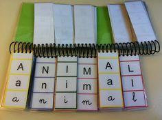 Una libreta para formar palabras y aprender a leerla y a escribirlas. RACÓ MALL…