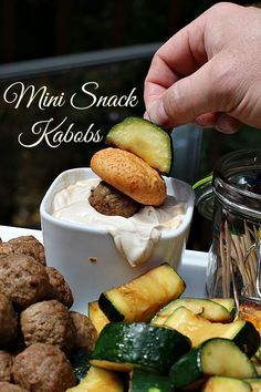 Make snacking fun for any age with these mini snack kabobs served with creamy balsamic dipping sauce and discover how you can back your favorite snack in the #FarmRich #BackYourSnack contest at @Walmart!  AD