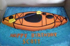 Up the Creek kayak cake.