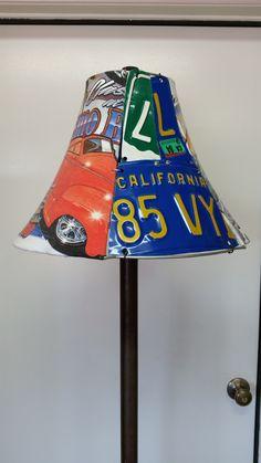 License Plate / Car Show T-Shirt Lamp Shade