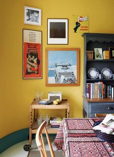 Art And Craft Design, Design Crafts, Design Projects, Ercol Chair, Kitchens And Bedrooms, Old Wall, Yellow Painting, Flat Color, Mellow Yellow