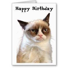 Grumpy Cat Happy Birthday Card #GrumpyCat #GreetingCards $3.50