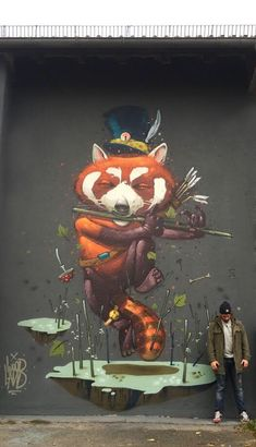 "Mr.Woodland with his new work ""Dancing through the Autumn"", in Augsburg, Germany. 10/14 (LP)"