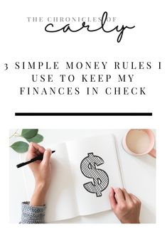 3 Simple Money Rules I Use To Keep My Finances In Check - The Chronicles of Carly Financial Literacy, Financial Goals, Financial Planning, Barefoot Investor, Go Getter, Budgeting Money, Debt Free, Investors, Personal Finance