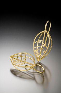 Earrings | Barbara Heinrich. 18k yellow gold with diamonds.