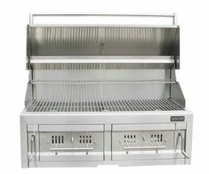 """42"""" Dual Zone 304 Stainless Steel Charcoal Grill  Item No. SUNCHDZ42  $3529.00   Sunstone® 42"""" Dual Zone Charcoal Grill, is not your ordinary charcoal grill, offered with exclusive dual zone drawer system – easily replenish charcoal or wood type while you continue grilling then remove whole drawer for easy clean-up, dumping ash waste away. Customizable positions for all inner drawer components including (8) Wood/Charcoal Trays,and Two large Smoker/Steamer boxes. Unlimited ways to grill…"""