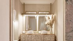 Un espacio asombrosamente bello realizado a mano por los artistas del Atelier de la marca española Bathco Mirror, Bathroom, Ideas, Interior, Frame, House, Furniture, Home Decor, Wood And Metal