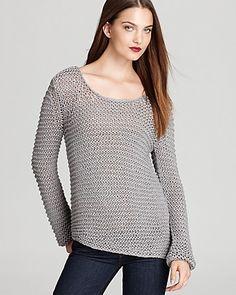 Aqua Sweater - Asymmetrical Open Knit Scoop Neck | Bloomingdale's
