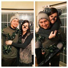 Halloween Couples Costume: Koala bear and a tree! 2014