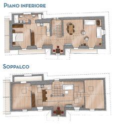 Progetti case su due piani nel 2020 case piantine e for Piantine di case