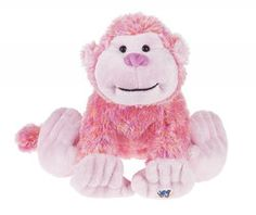 """Berry Cheeky Monkey Webkinz by Ganz - HM768  Webkinz pets are very special plush animals. Each Webkinz pet comes with a secret code that allows the owner to log into the website and adopt a virtual version of their pet. 8.5"""""""