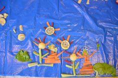 obraz z warzyw i owoców- pomysł na podwieczorek