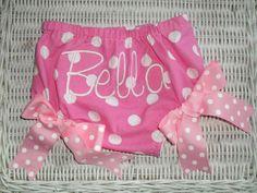 Pink Polka Dot Bloomers by MamasTinyMonkeys