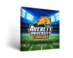 Averett University Cougars Football Stadium Canvas Art Square