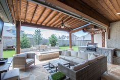 Gorgeous home with amazing floor plan & upgrades! Chef's kitchen with Marble counters, backsplash & new high end appliances. Custom window treatments. Outdoor living space with pergola, built-in grill & fire pit. Master suite +2 bedrooms down. 3 car garage. Neighborhood pool & park.