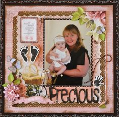 A Layout made using the Pitter Patter Collection from Kaisercraft by Kelly-ann Oosterbeek. Butterflies from Etsy ... https://www.etsy.com/au/shop/FromAMothersArt