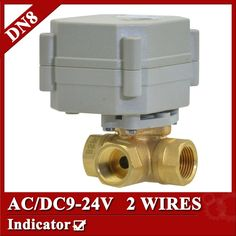 """28.70$  Buy now - http://alii9b.shopchina.info/go.php?t=32790047782 - """"1/4"""""""" brass 3 way electric ball valve, DN8 motorized valve 2 wires, AC/DC 9V to 24V electric valve normal open or normal close""""  #buyonlinewebsite"""