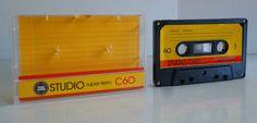 1 Audiokassette / STUDIO super-ferro C 60 / compact audio cassette