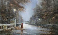 Este artista inglês cria belas imagens mostrando o quanto a chuva pode ser linda e romântica!