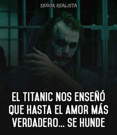 fraces del joker | amor Joker Frases, Joker Quotes, Dog Quotes, Life Quotes, Summer Body Workouts, Latin Language, Language Quotes, Sad Love, Clint Eastwood