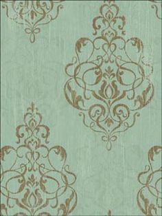 Damask #wallpaper from Sandpiper Studios.....in my colors! I may use this as inspiration for focal wall in our MB....