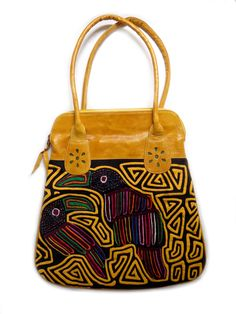 Big Yellow Mola Bag
