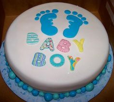Cute Baby Boy Shower Pasteles Ideas