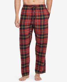 Polo Ralph Lauren Men's Big & Tall Flannel Pajama Pants - Andrew Plaid 1XT