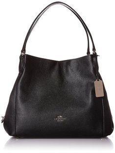 COACH Women's Refined Pebble Leather Edie 31 Shoulder Bag Genuine pebbled leather with gold tone hardware Double handles with 7 drop Magnetic snap closure Center zip compartment; 1 back wall zip pocket Approximate dimensions 13 x 5 x Kooba Handbags, Chloe Handbags, Hermes Handbags, Coach Handbags, Purses And Handbags, Replica Handbags, Black Shoulder Bag, Shoulder Purse, Look Fashion